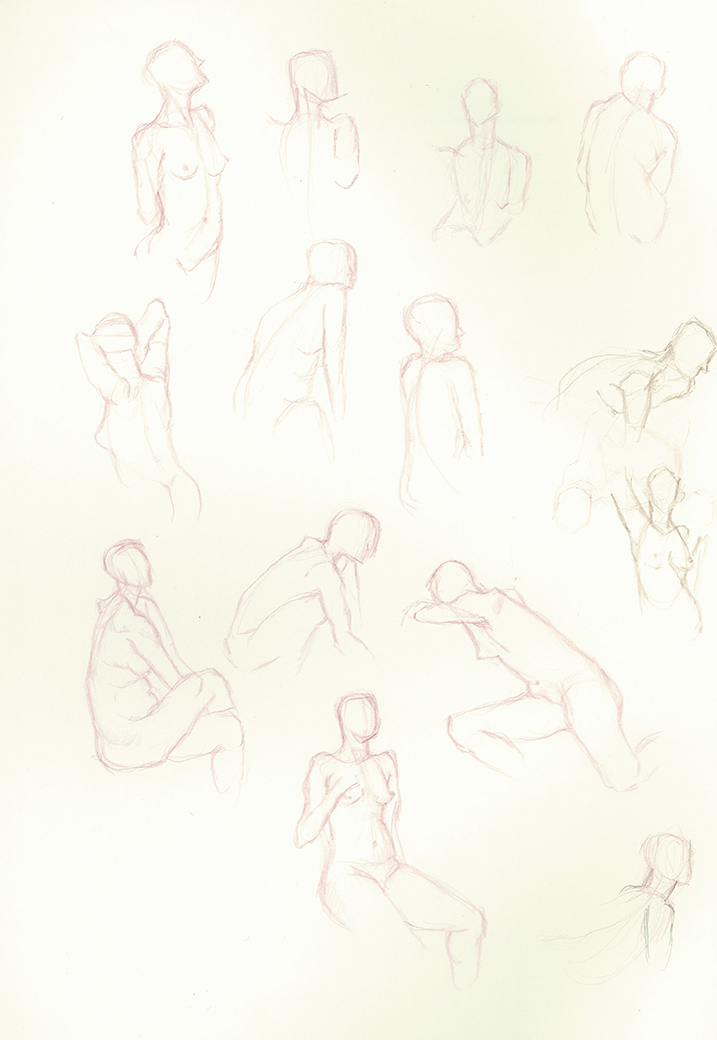 A few  life drawings from a  couple weeks ago.  Recently I began to draw with a thicker point which you'll see in the coming post.